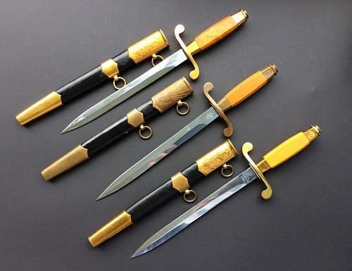 Soviet daggers.