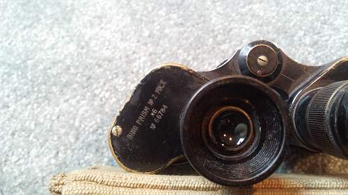 Unusual 1940 South African Binoculars and Case