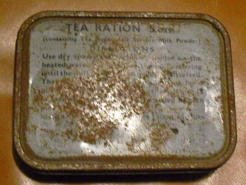British tea ration tin