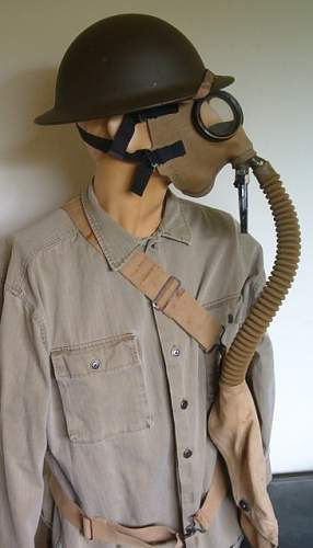 early WWII era M1A2 Gas Mask displays