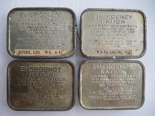 Click image for larger version.  Name:Emergency Ration tins..jpg Views:2604 Size:250.7 KB ID:108890