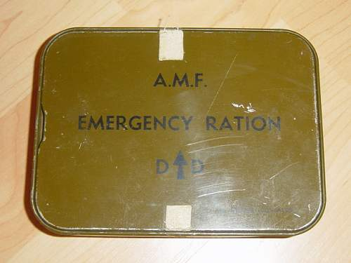 Australian issue Emergency Ration tins