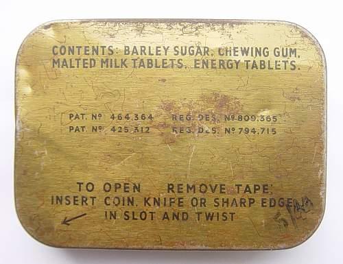 Click image for larger version.  Name:RAF Emergency Flying Ration tins 002.jpg Views:324 Size:203.4 KB ID:108925