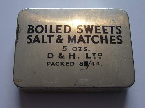 British issue Boiled sweets ration tins