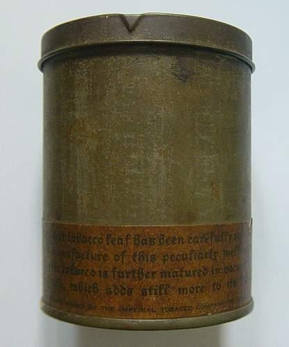 British Cigarette ration tins