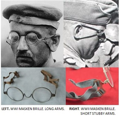 British gas mask spectacles ,  WWI?