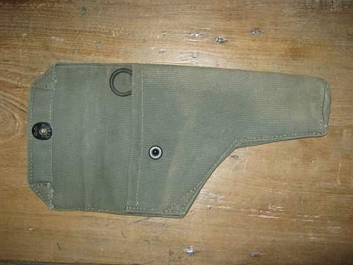 Odd 37 pattern pistol holster, British made, Lift the Dot.....?