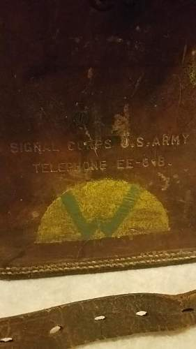U.S Army Signal Corps telephone insignia identification