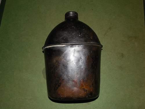 Canteen ID GP&F Co 1945 blackened