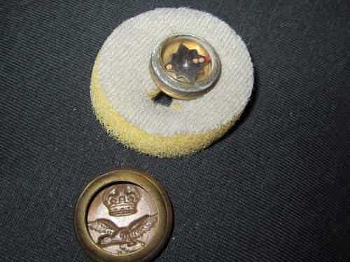 RAF Button Compass.