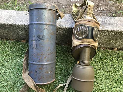 My british 1944 dated gasmask and TC-38 french gasmask