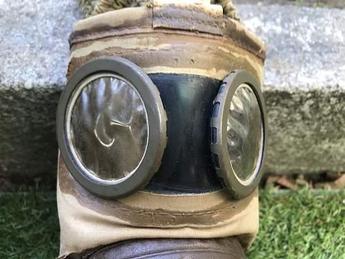 My british 1944 dated gasmask and TC-38 french gasmask