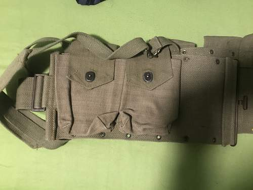 Unknown Webbing Pouches maybe US WW2?