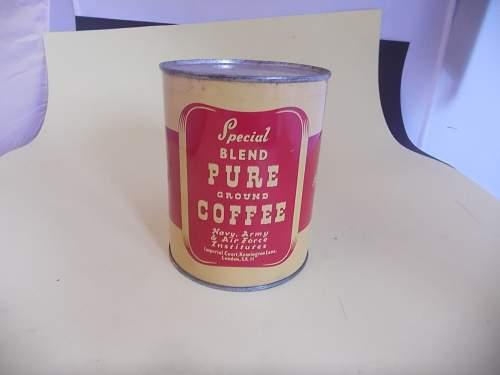Coffee tin ww2?