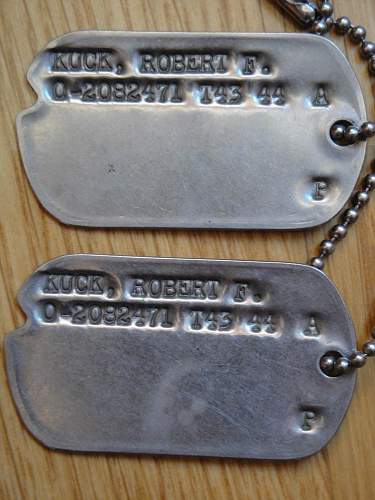 WWII  US dog tags