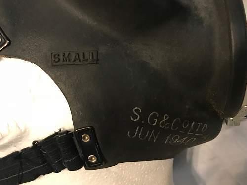 British Civilian Duty respirator