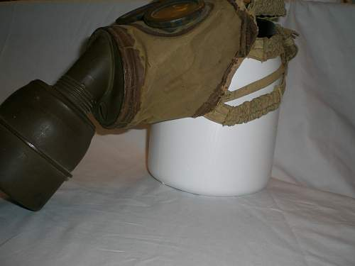 Question:  I have a WWII gas mask and am wondering if anyone can tell me the orgin or the value.