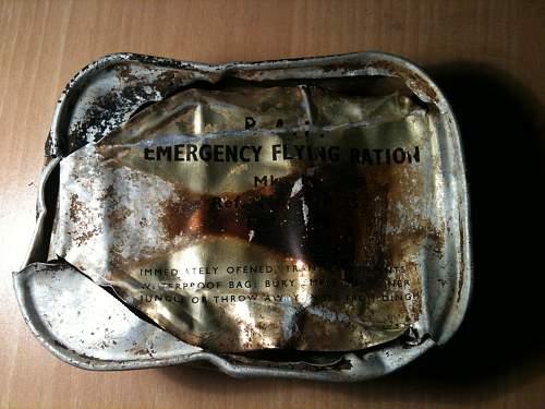 RAF Emergency Flying Ration MKII tins