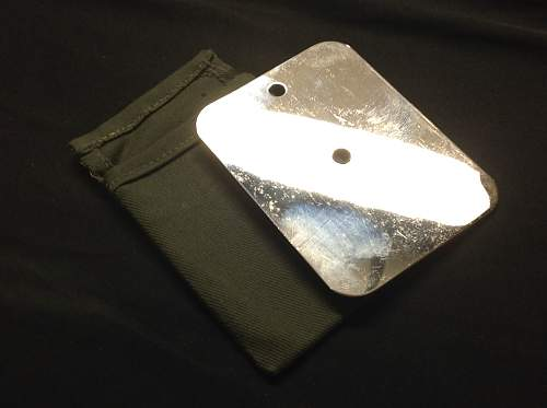 WW2 British Tropical issue Heliograph/Shaving mirror