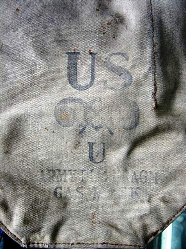 WWII US gas mask bag?? from China??
