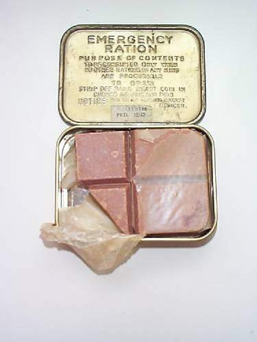 2 WW2 Ration Tins Chocolate