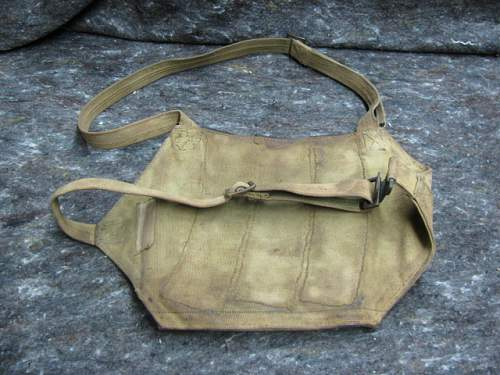 Nationalist chinese ppsh canvas & leather chest pouch