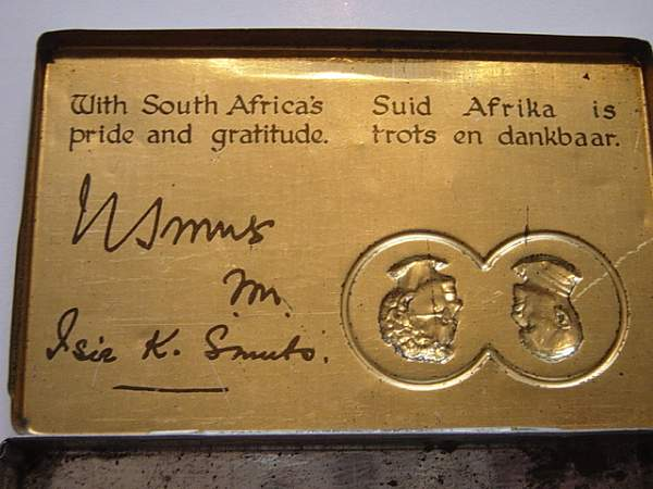 South African gift tins to the troops