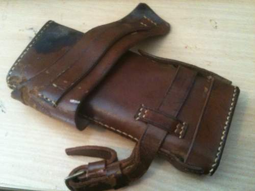 Identification - Leather pouch, Sam Browne? Ammo? Holster