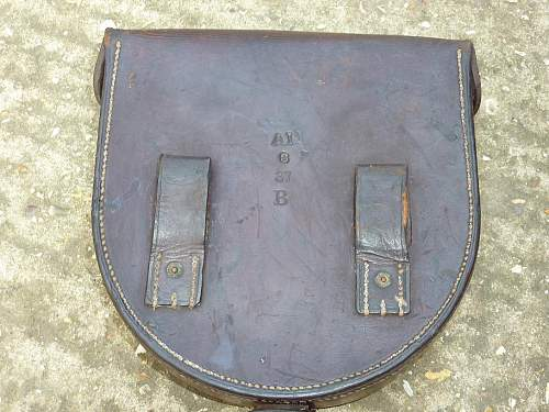 Mystery leather pouch.