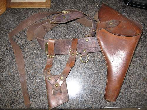 Sam Browne Belt and Holsters