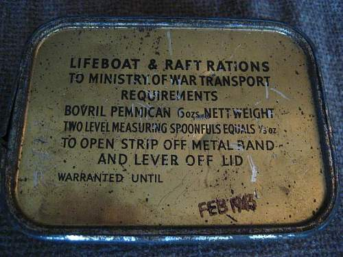 Survival rations tin