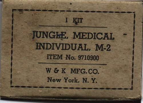 WWII, US, M-2 Individual Jungle Medical Kit, absolutely mint and complete out of original box