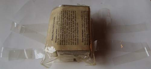 Parachutist First Aid Kit that you can see inside.