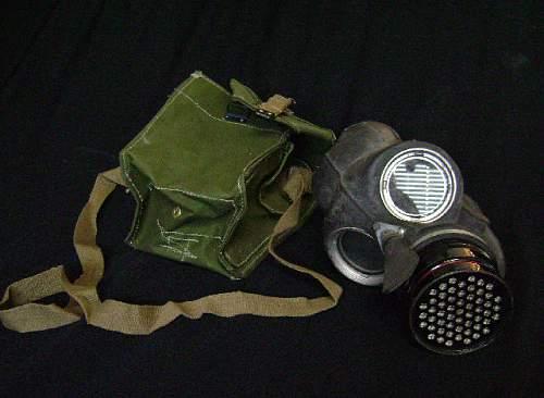 British Gas mask pouch