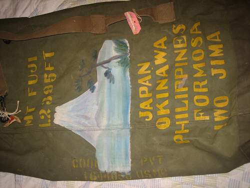 Painted 9th Marine Hand Painted Duffle Bag?