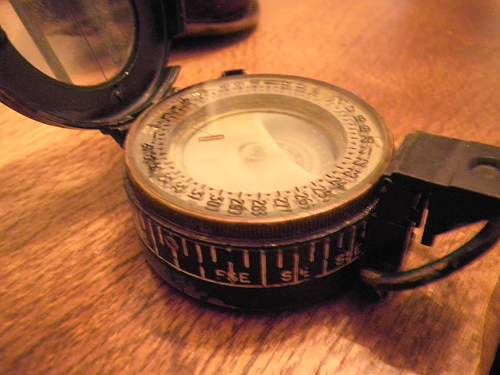 Australian WW2 compass and periscope