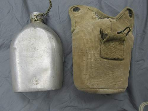 WWI U.S. Canteen w/engraved serial number