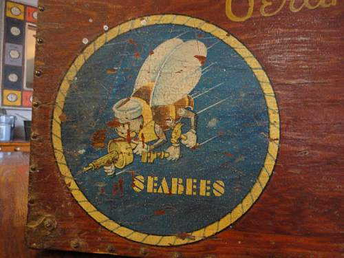 USN SEABEES Wooden Box