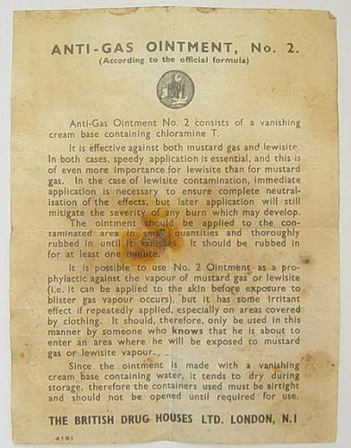 Click image for larger version.  Name:Anti gas ointment no.2 instructions sheet..jpg Views:374 Size:34.9 KB ID:30040