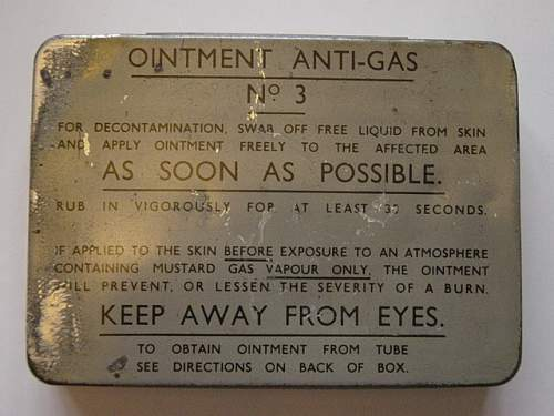 Click image for larger version.  Name:ATS Vets gas mask. Anti gas ointment no.3.jpg Views:1520 Size:150.8 KB ID:30049