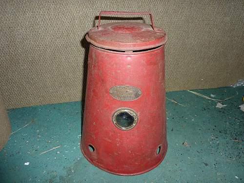 'Progress' Air raid shelter heater.