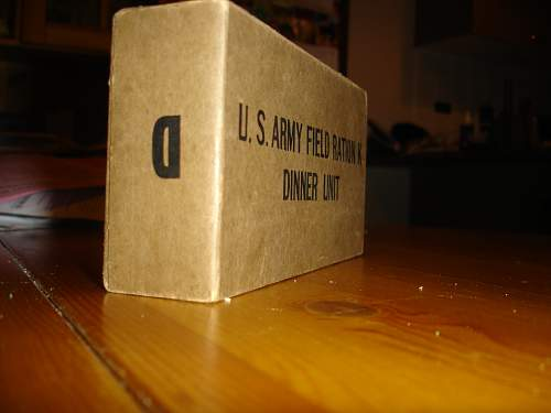 WWII K Ration Crate and Carton buy from SOS, Hiram Walker & Sons, INC. made and 10 - 44 dated