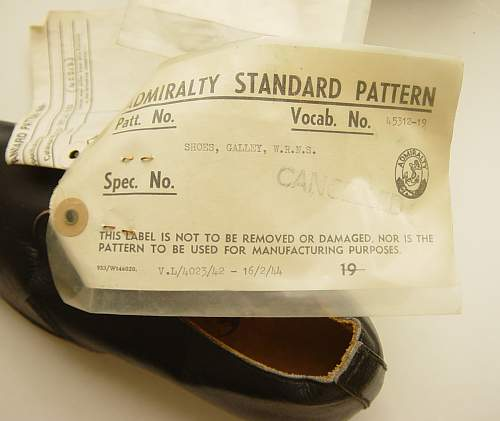 Shoes, Galley, WRNS: sealed pattern 1944
