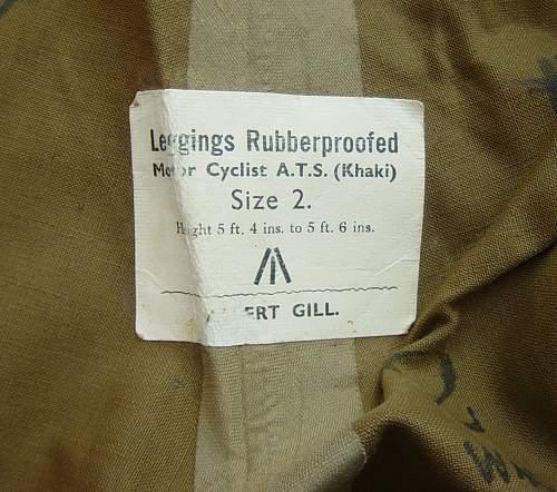 Leggings Rubberproofed, Motorcyclist, ATS