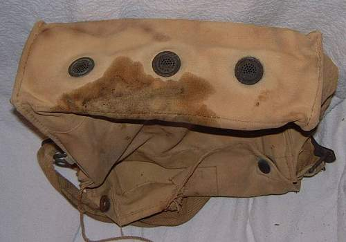 British mk 6 and 7 gas  mask bags.