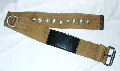 Unknown WW2 British Army Heavy Duty Belt ?? possible parachute harness