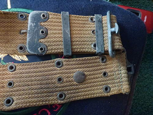 US Canteen and utility belt, purchased from vet.