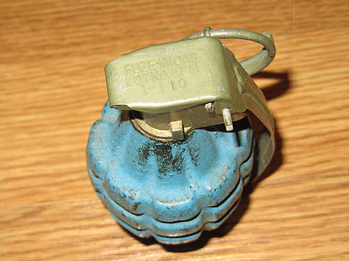 Blue DUMMY Grenade and Tube