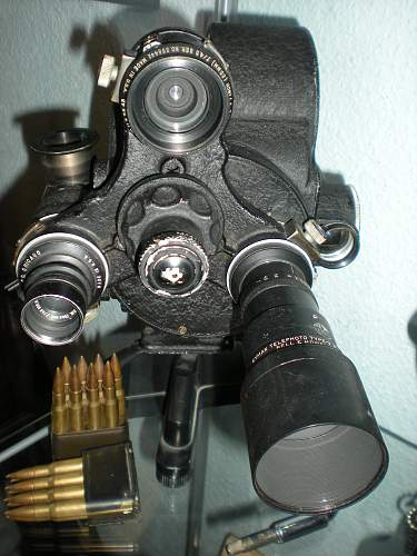 Cameras and insignia of U.S. war photographers