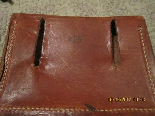Is this leather pouch for bullets?